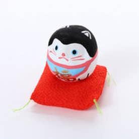【カヤ】豆犬張子だるま ホワイト×レッド