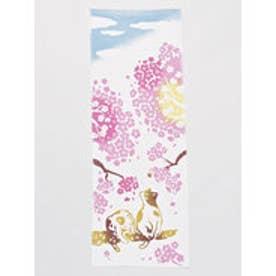 【カヤ】さくら猫手ぬぐい 桜