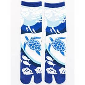 【カヤ】水族館足袋くつ下23?25cm ブルー系その他