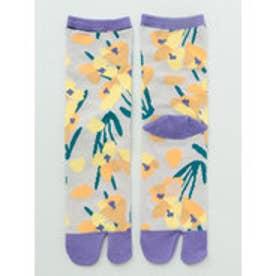 【カヤ】足袋型くつ下23~25cm シクラメン グレー