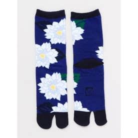 【カヤ】足袋型くつ下23~25cm 葉菊 ブルー