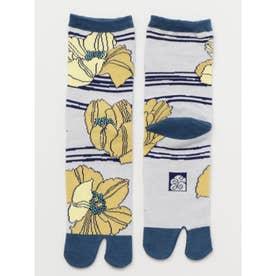【カヤ】足袋型くつ下23~25cm けしの花 イエロー