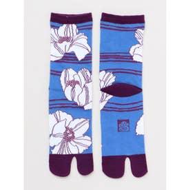 【カヤ】足袋型くつ下23~25cm けしの花 ホワイト