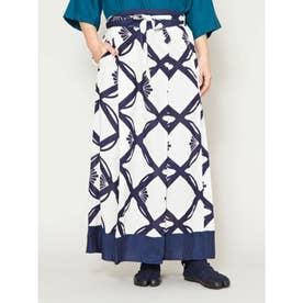 【カヤ】花七宝ならいスカート ホワイト