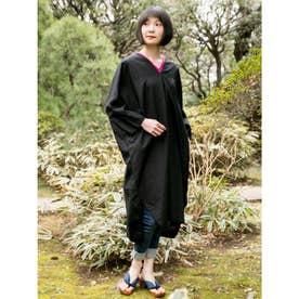 【カヤ】綿麻 天衣ワンピース ブラック