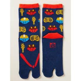 【カヤ】日本昔ばなし 鼻緒足袋型くつ下23~25cm ネイビー