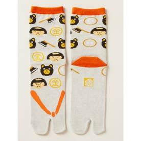【カヤ】日本昔ばなし 鼻緒足袋型くつ下23~25cm ライトグレー