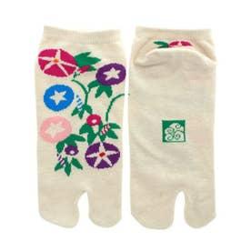 【カヤ】朝顔足袋型靴下23~25cm グレー