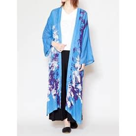 【カヤ】東雲百花UV羽織り ブルー