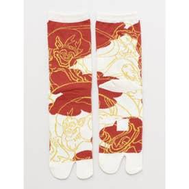 【カヤ】浮世絵足袋型くつ下23~25cm 風神雷神 その他