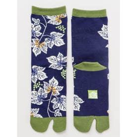 【カヤ】足袋型くつ下23~25cm 葡萄 ブルー