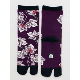 【カヤ】足袋型くつ下23~25cm 葡萄 パープル