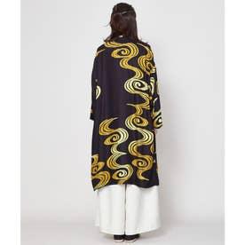 【カヤ】白金模様羽織り ブラック