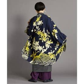 【カヤ】白金模様羽織り ネイビー