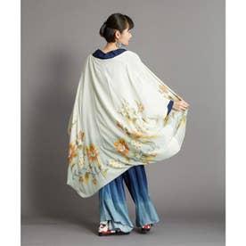 【カヤ】花笑み振袖羽織り UVロングカーディガン ベージュ