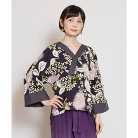 【カヤ】紫陽花 浴衣ならいトップス スミクロ