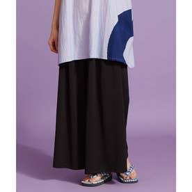 【カヤ】ゆらめき袴風パンツ スミクロ