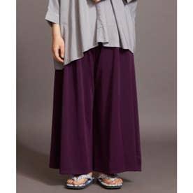 【カヤ】ゆらめき袴風パンツ パープル