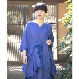 【カヤ】菊薫るUV羽織 ブルー