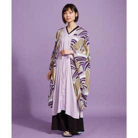 【カヤ】束ね熨斗模様UV羽織 グレー