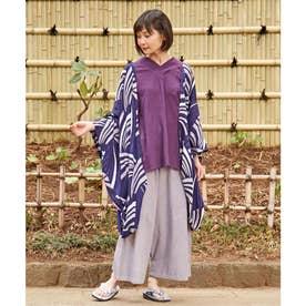 【カヤ】束ね熨斗模様UV羽織 パープル