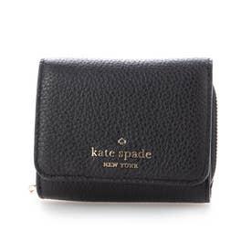 leila sm trifold wallet (ブラック)