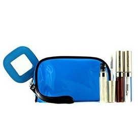 セット&コフレ リップグロスセット With ブルーコスメバッグ(3xモードグロス, 1xコスメバッグ)