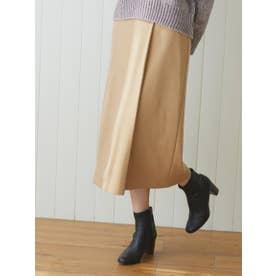 ポンチラップスカート (キャメル)