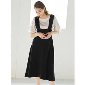 ニットジャンパースカート (ブラック)