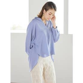 ノーカラースキッパーシャツ (ブルー)