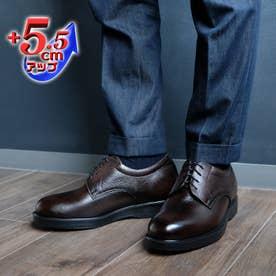 【5.5cmアップ】牛革ソフトビジネス シークレットシューズ ビジネスシューズ 幅広 本革日本製 No.911 (ブラウン)