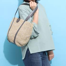 zip-up basket bag グレー (グレー)