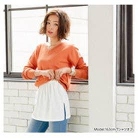 フェイクレイヤード付け裾 (Tシャツオフ)