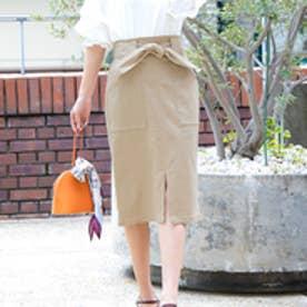 動けるストレッチタイトスカート【ロング】(ベージュ)