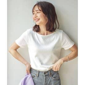 【透けにくい】前身二重半袖Tシャツ【Bネック】 [C3654] (オフホワイト)
