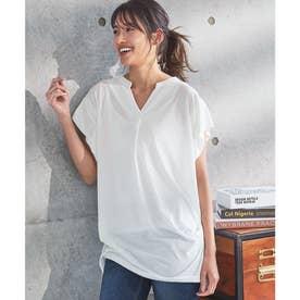 サイドギャザーチュニックTシャツ [C4667] (オフホワイト)