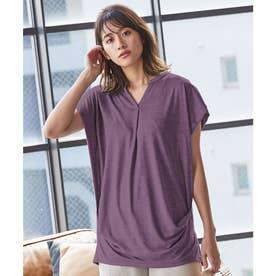 サイドギャザーチュニックTシャツ [C4667] (パープル)