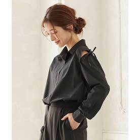 デザインスリーブ2wayシャツ [C4853] (ブラック)