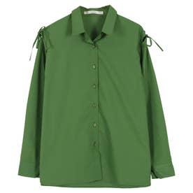 デザインスリーブ2wayシャツ [C4853] (グリーン)