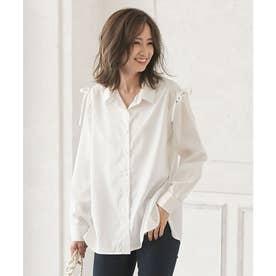 デザインスリーブ2wayシャツ [C4853] (オフホワイト)