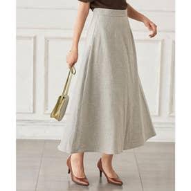 Aラインヘリンボーンスカート [M3026] (グレー)