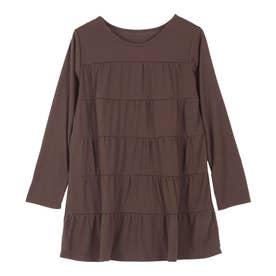 ティアードチュニックTシャツ [C4931] (ブラウン)