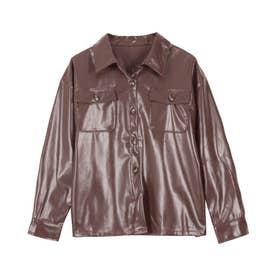 ゆるシルエットシャツ [C5012] (レザーブラウン)