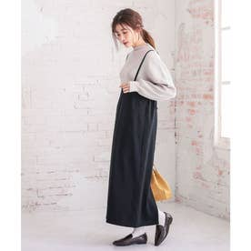 キャミサロペットスカート [E2604] (ブラック)
