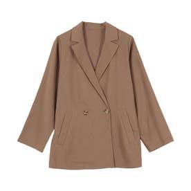 リネンテーラードジャケット [K1014] (モカ)