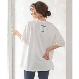 バックロゴプリントTシャツ [C5334] (オフホワイト)