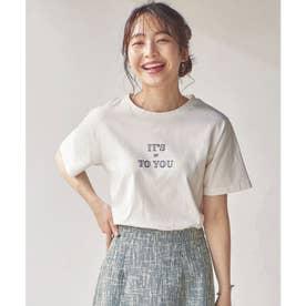 ロゴTシャツ【刺繍】 [C5431] (オフホワイト)