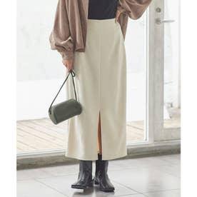 フェイクスエードIラインスカート [M3382] (アイボリー)