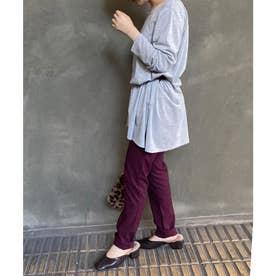 【170%伸びる!素肌感覚パンツ】ウエストゴムストレッチスキニーパンツ [M2390] (ワイン)