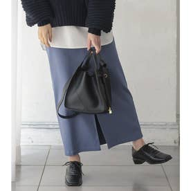 動けるストレッチタイトスカート【マキシ】[M2394] (ブルー)